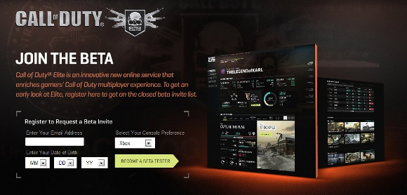 Call of Duty Elite Announcement screenshot