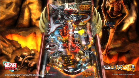 Marvel Pinball: Vengeance and Virtue (360, PS3) Ghost Rider Table Announcement - Screenshot 2