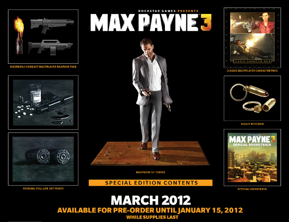 Max Payne 3 (360, PC, PS3) Special Edition Announcement - Set