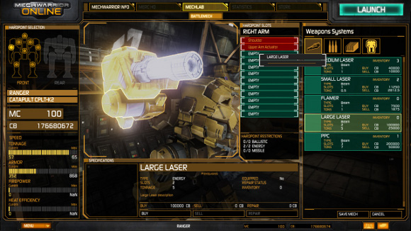 MechWarrior Online (PC) MechLab and New Screenshots - Screenshot 9