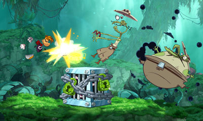 Rayman Origins (3DS, 360, PS3, Wii) 3DS Demo Launch Announcement - Screenshot 1