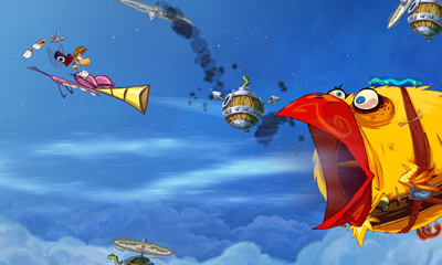 Rayman Origins (3DS, 360, PS3, Wii) 3DS Demo Launch Announcement - Screenshot 2