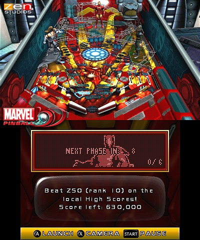 Marvel Pinball 3D (3DS) Release Date Announcement - Screenshot 2