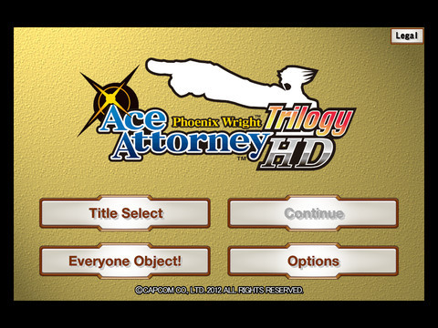 Phoenix Wright Trilogy HD (iOS) Launch Announcement - Screenshot 3
