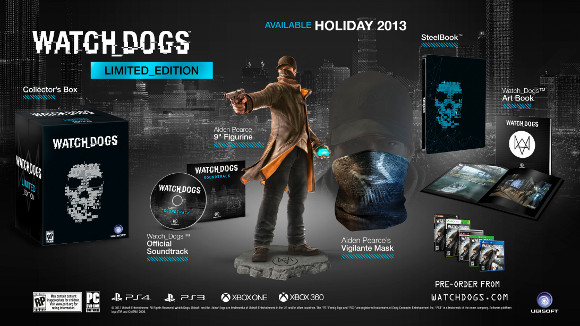 Watch Dogs (360, PC, PS3, PS4, Wii U) Limited Edition Announcement - Set