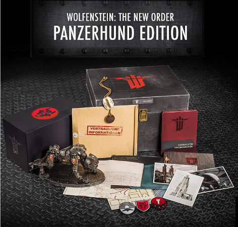 Wolfenstein The New Order (360, PC, PS3, PS4, Xbox One) Panzerhund Edition Announcement - Set
