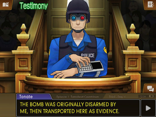 Phoenix Wright Ace Attorney Dual Destinies (iOS, 3DS) iOS Launch Announcement - Screenshot 5