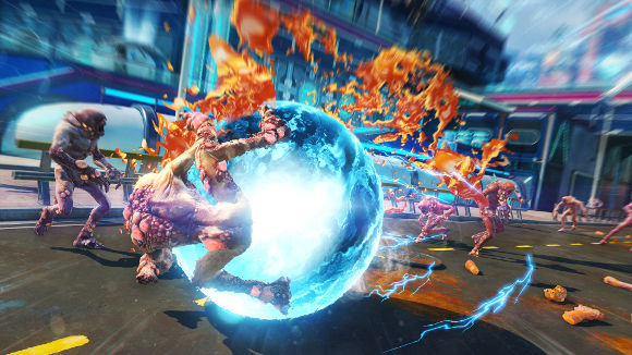Sunset Overdrive (Xbox One) Dawn of the Rise of the Fallen Machines Launch Announcement - Screenshot 1
