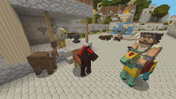 Minecraft Console Edition - Greek Mythology Mashup Pack (Xbox 360, Xbox One) Launch Announcement - Screenshot 2