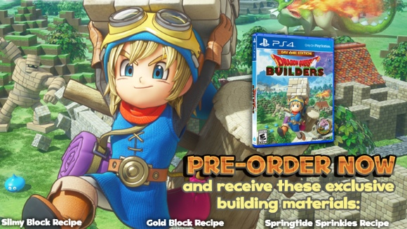 Dragon Quest Builders (PS4, PS Vita) Day One Edition Announcement - Header